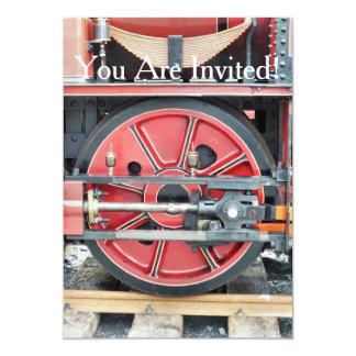 STEAM TRAIN 13 CM X 18 CM INVITATION CARD