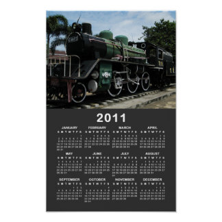 Steam Train at the River Kwai Bridge 2011 Calendar Poster