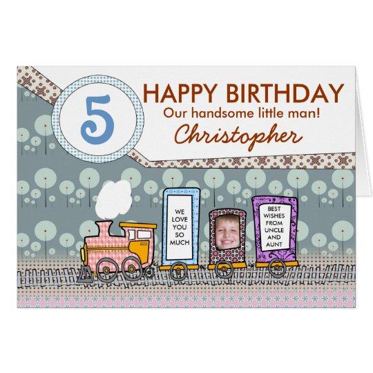 Steam train birthday greeting cards for boys