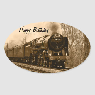 Steam Train Birthday Stickers