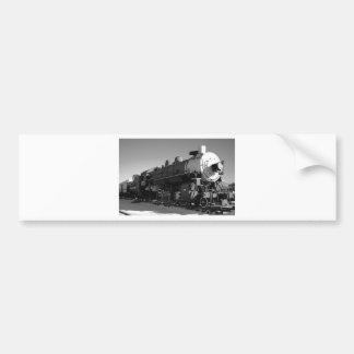 Steam Train Black and White Bumper Sticker