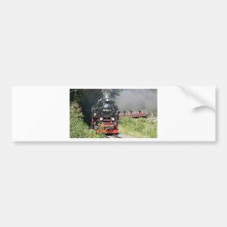 Steam train bumper sticker