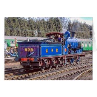 Steam Train Card