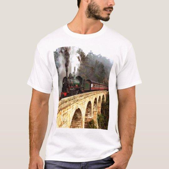 Steam Train Crossing Bridge T-Shirt