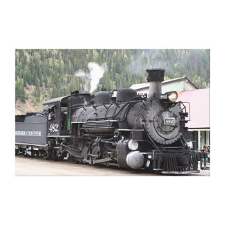Steam train engine Colorado, USA, canvas print