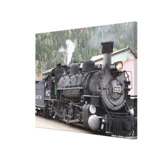 Steam Train engine: Colorado, USA Canvas Print