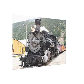 Steam train engine Silverton, Colorado, USA 8 Canvas Print