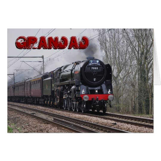 Train birthday cards invitations zazzle steam train grandad birthday card bookmarktalkfo Image collections