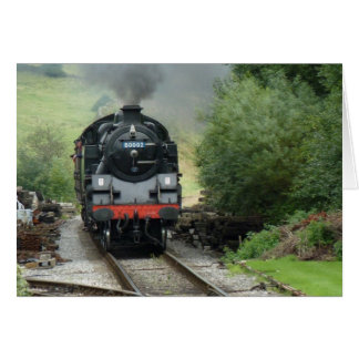 Steam Train Greeting Card / Note Card