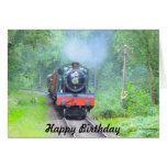 Steam Train Happy Birthday Card