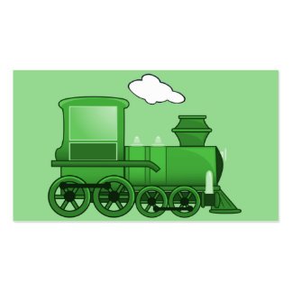 Steam Train Loco Green Art Business Cards