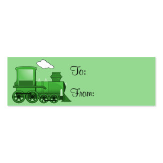 Steam Train Loco Green Art Pack Of Skinny Business Cards