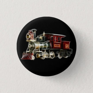 Steam Train Locomotive Engine 3 Cm Round Badge