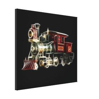 Steam Train Locomotive Engine Gallery Wrap Canvas