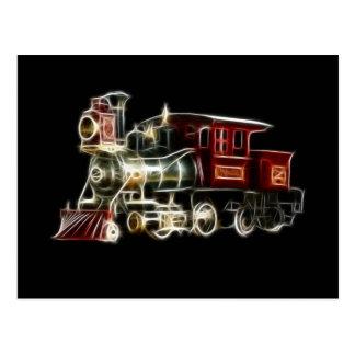 Steam Train Locomotive Engine Postcard