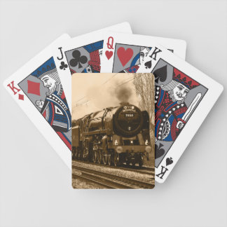 Steam train locomotive Playing cards