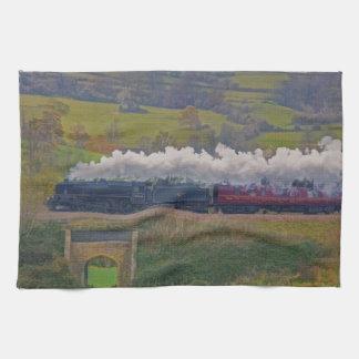 Steam Train Locomotive Railway Enthusiast Art Hand Towels