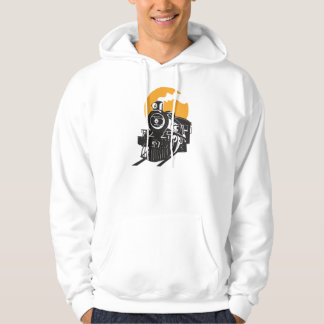 Steam Train Mens Hoodie