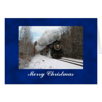 Steam Train Merry Christmas Card