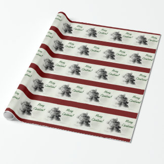 Steam Train Merry Christmas Wrapping Paper