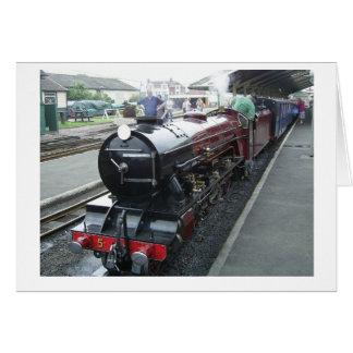 Steam Train Note Card