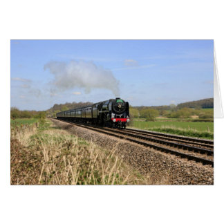 "Steam Train ""Oliver Cromwell"" Card"