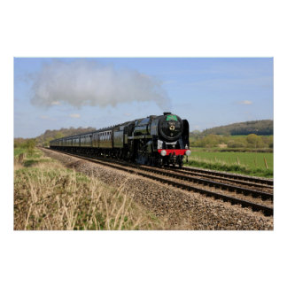 "Steam Train ""Oliver Cromwell"" Poster"