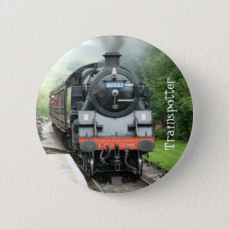 Steam Train Pin Button Badge - Customizable