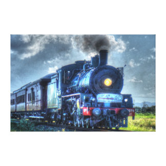 STEAM TRAIN QUEENSLAND AUSTRALIA WITH ART EFFECTS CANVAS PRINT
