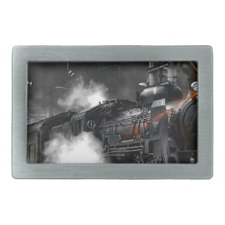 Steam Train Rectangular Belt Buckle