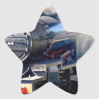 Steam Train Star Sticker