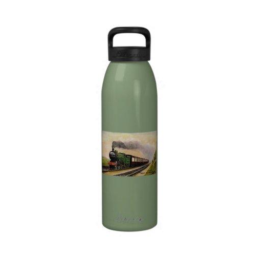 Steam Train Water Bottle