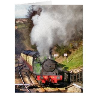 STEAM TRAINS BIG GREETING CARD