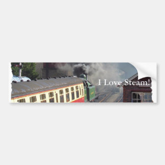 STEAM TRAINS BUMPER STICKER