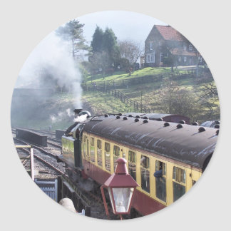 STEAM TRAINS CLASSIC ROUND STICKER