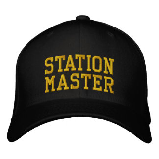 STEAM TRAINS EMBROIDERED HATS