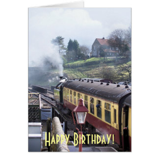 STEAM TRAINS GREETING CARD