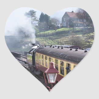 STEAM TRAINS HEART STICKER