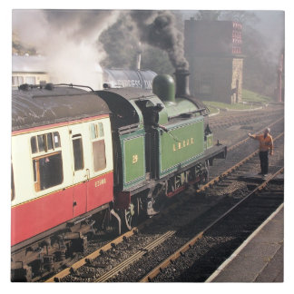 STEAM TRAINS LARGE SQUARE TILE
