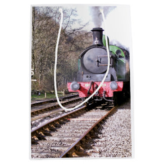 STEAM TRAINS MEDIUM GIFT BAG
