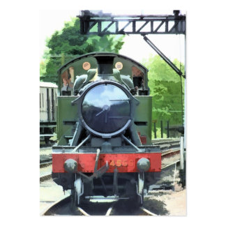 STEAM TRAINS PACK OF CHUBBY BUSINESS CARDS