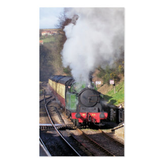 STEAM TRAINS PACK OF STANDARD BUSINESS CARDS