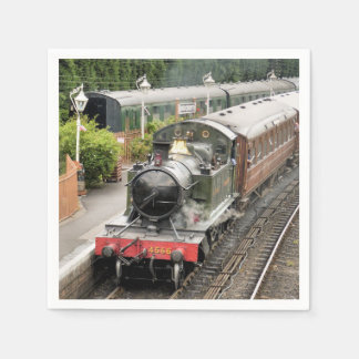 STEAM TRAINS PAPER SERVIETTES