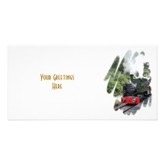 STEAM TRAINS CUSTOMISED PHOTO CARD