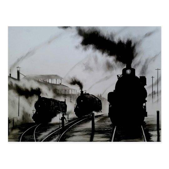 Steam-Trains Postcard