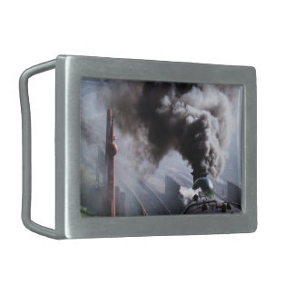STEAM TRAINS RECTANGULAR BELT BUCKLES
