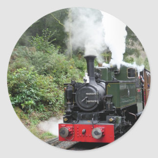 STEAM TRAINS ROUND STICKER