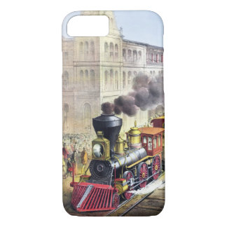 Steam Trains, Station, Railroad Vintage Cases