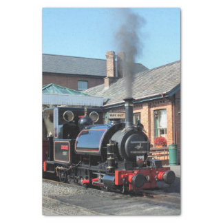 STEAM TRAINS TISSUE PAPER