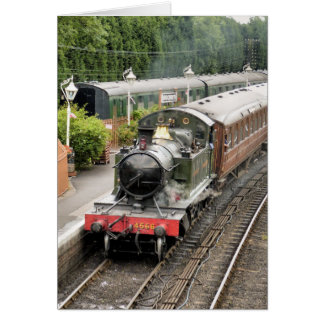 STEAM TRAINS UK GREETING CARD